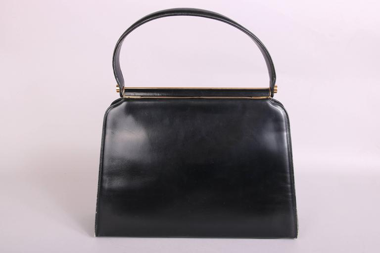 Women S Or Men Vintage Milch Black Leather Box Purse Handbag W Working Radio For