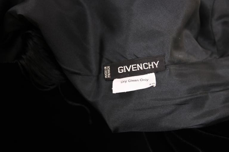 Givenchy Haute Couture Black Silk Velvet Evening Gown W/Matching Cape No. 59129 For Sale 3