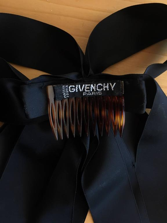 Givenchy Haute Couture Black Silk Velvet Evening Gown W/Matching Cape No. 59129 For Sale 6