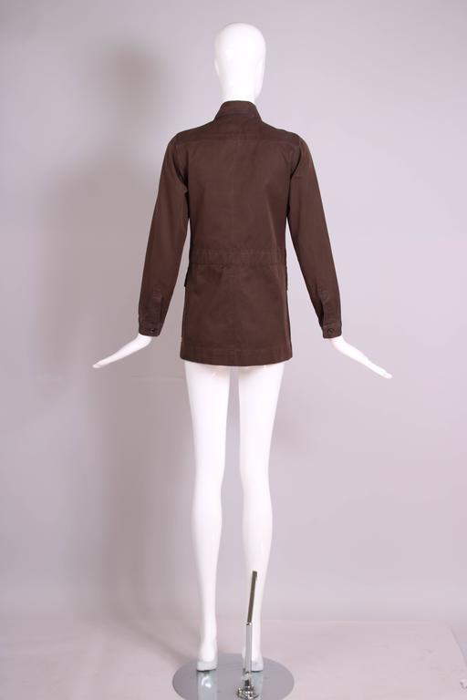 1970's Yves Saint Laurent YSL Brown Safari Jacket For Sale 1