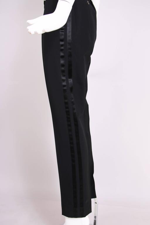 Vintage Yves Saint Laurent Ysl Black Smoking Jacket At 1stdibs