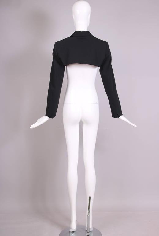 Jean Paul Gaultier Black Ultra Cropped Blazer Top For Sale 1
