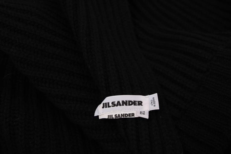 Jil Sander Black Cable Knit Wrap Vest 6