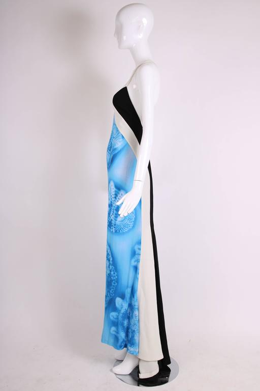 2008 Jean Paul Gaultier Deep V-Neck Spaghetti Strap Gown w/Train In Excellent Condition For Sale In Los Angeles, CA