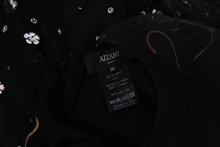 Loris Azzaro Black Silk Chiffon Mini Dress For Sale 3