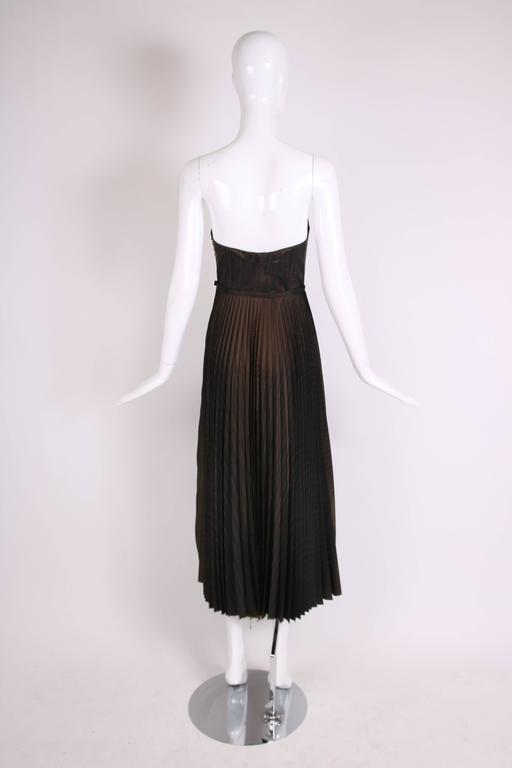 Women's 1990's Jean Paul Gaultier Striped Bustier & Pleated Skirt Ensemble For Sale