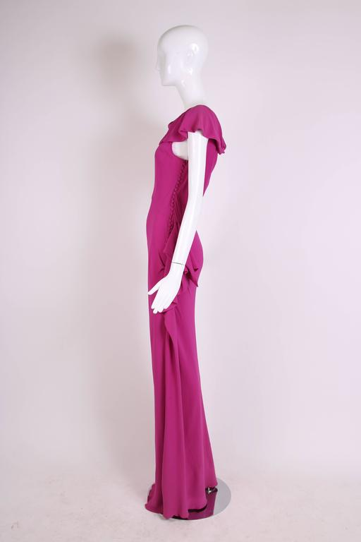 Women's Christian Dior by John Galliano Bias-Cut Pink Crepe Evening Gown For Sale