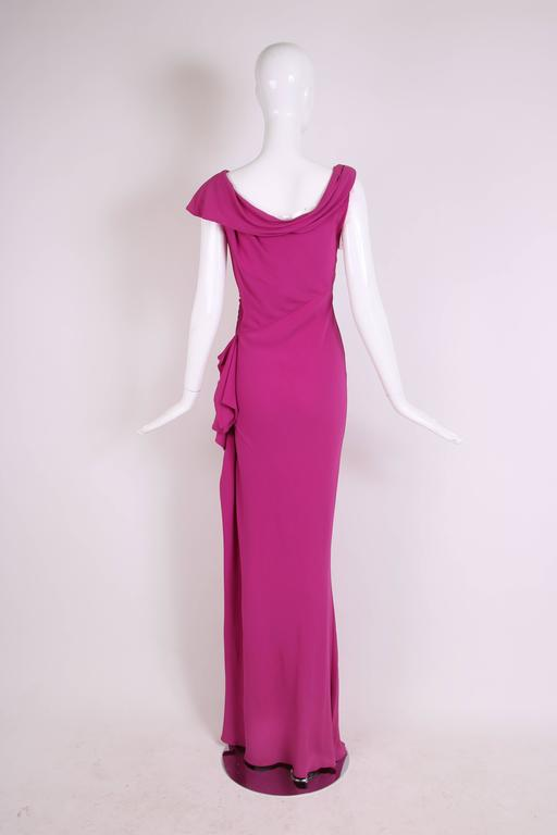 Christian Dior by John Galliano Bias-Cut Pink Crepe Evening Gown For Sale 1