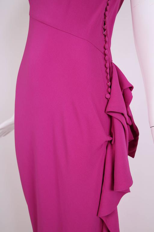 Christian Dior by John Galliano Bias-Cut Pink Crepe Evening Gown For Sale 3