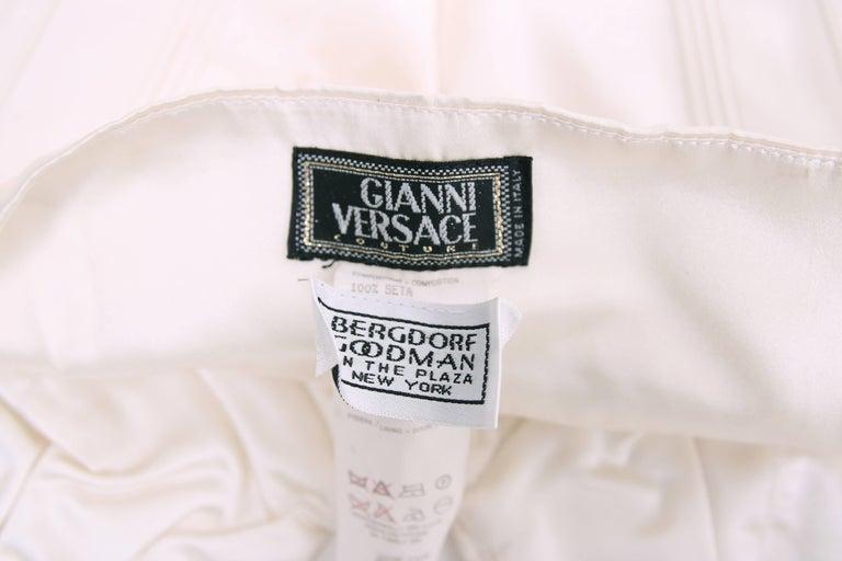 1995 Gianni Versace Ivory Satin Bustier w/Overstitching & Trapunto Detail 5