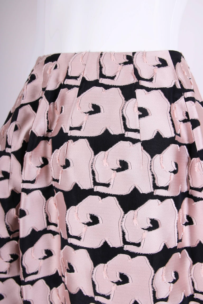 Women's 2013 Christian Dior by Raf Simons Silk Floral Voluminous Ball Skirt For Sale