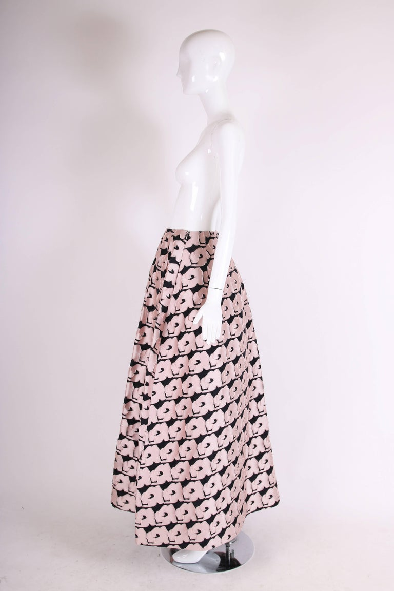 2013 Christian Dior by Raf Simons Silk Floral Voluminous Ball Skirt In Excellent Condition For Sale In Los Angeles, CA