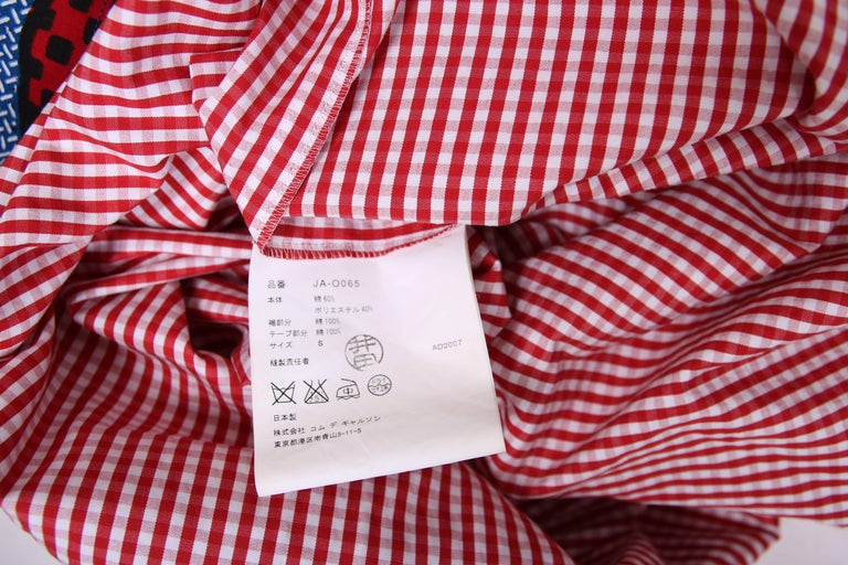 2007 Junya Watanabe for Comme des Garcons Sleeveless Hooded Print Dress For Sale 4