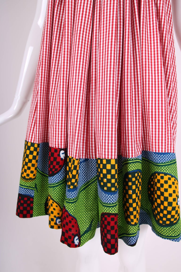 2007 Junya Watanabe for Comme des Garcons Sleeveless Hooded Print Dress For Sale 2