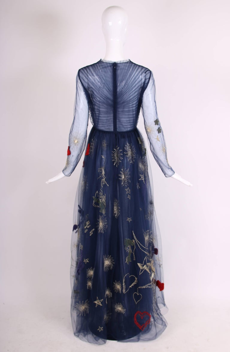 482794c158abb Women's 2015 Valentino Embroidered Tulle Heart Gown For Sale