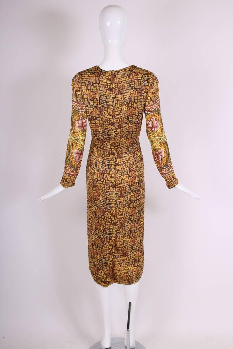 2013 Dolce & Gabbana Mosaic Collection Silk Dress w/Icon Graphic NWT 5