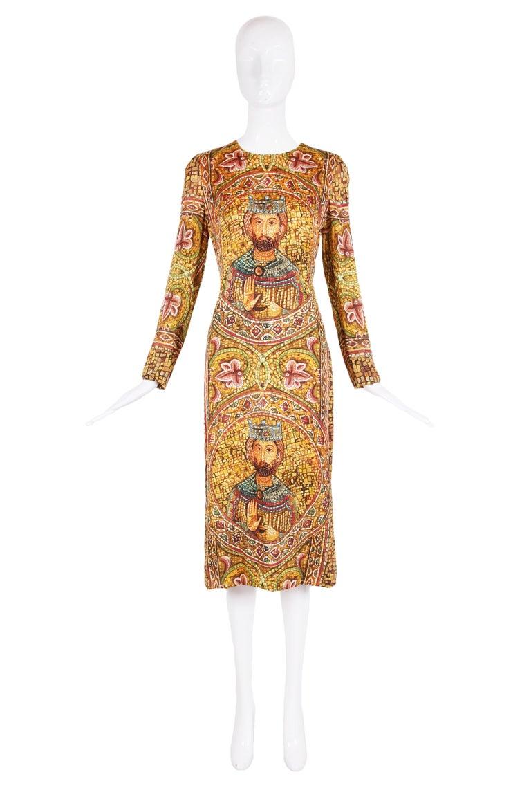 2013 Dolce & Gabbana Mosaic Collection Silk Dress w/Icon Graphic NWT 2