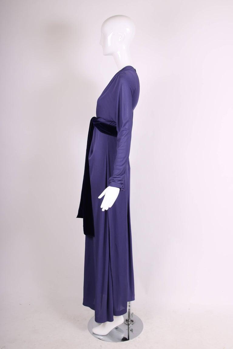 Yves Saint Laurent YSL by Tom Ford Purple Maxi Dress W/Velvet Ties 5