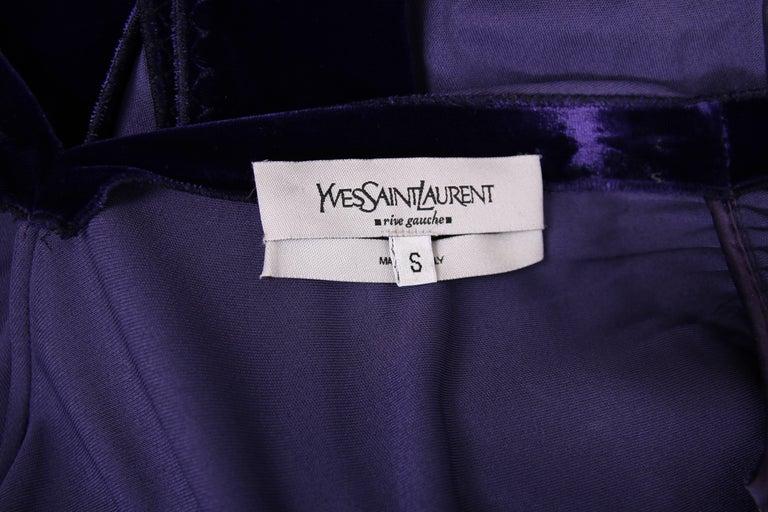 Yves Saint Laurent YSL by Tom Ford Purple Maxi Dress W/Velvet Ties 7