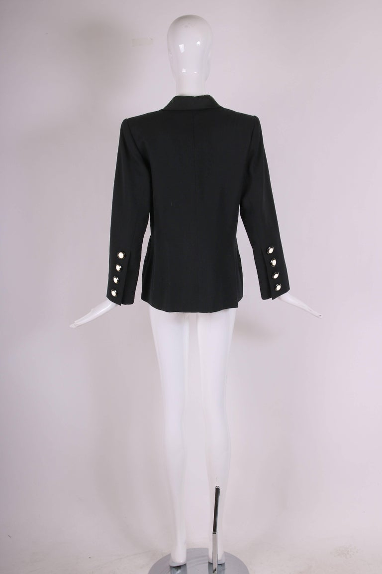 "Yves Saint Laurent YSL Haute Couture ""Le Smoking"" Tuxedo Jacket & Skirt No.64222 5"