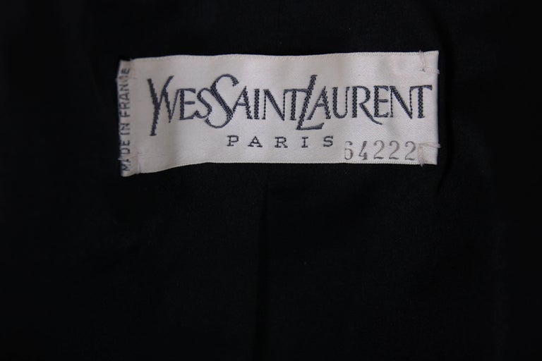 "Yves Saint Laurent YSL Haute Couture ""Le Smoking"" Tuxedo Jacket & Skirt No.64222 8"