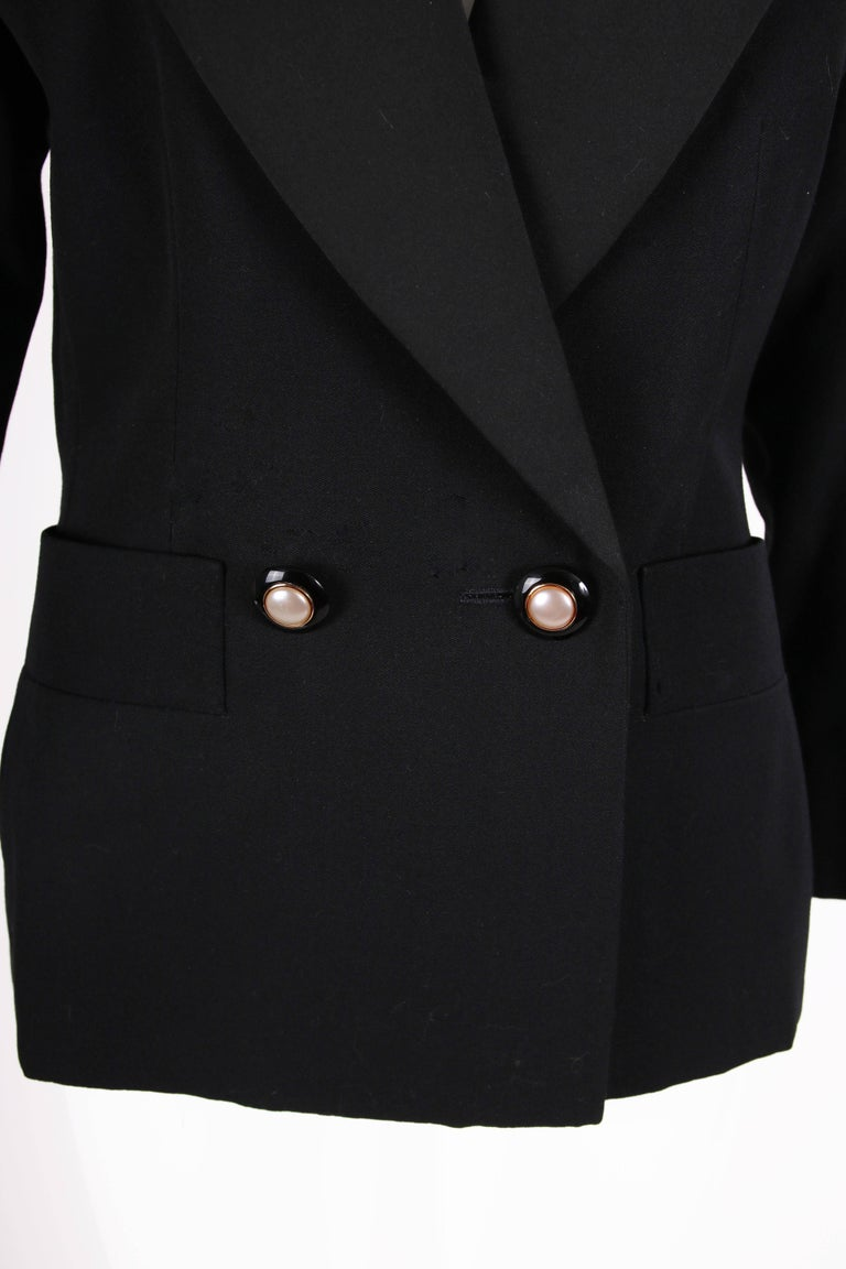 "Yves Saint Laurent YSL Haute Couture ""Le Smoking"" Tuxedo Jacket & Skirt No.64222 6"