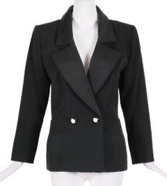 "Yves Saint Laurent YSL Haute Couture ""Le Smoking"" Tuxedo Jacket & Skirt No.64222"