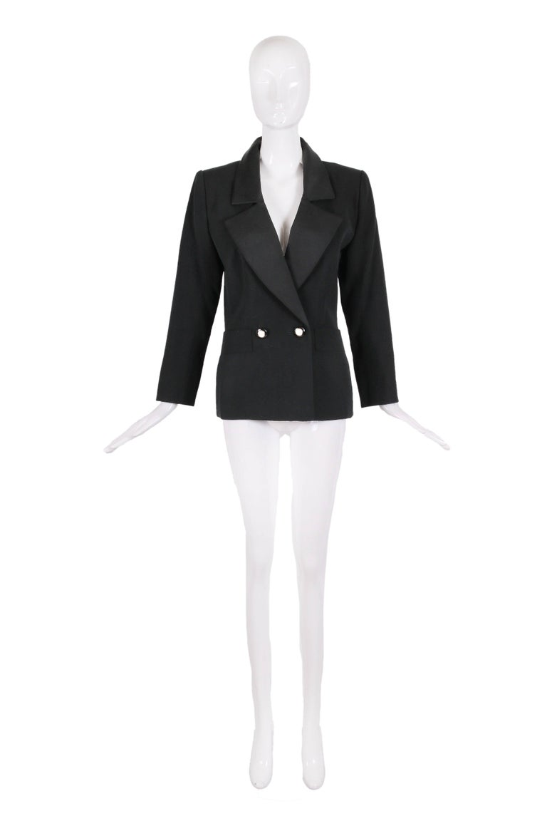 "Yves Saint Laurent YSL Haute Couture ""Le Smoking"" Tuxedo Jacket & Skirt No.64222 2"