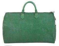 1990 Louis Vuitton Green Epi Leather Speedy Bag