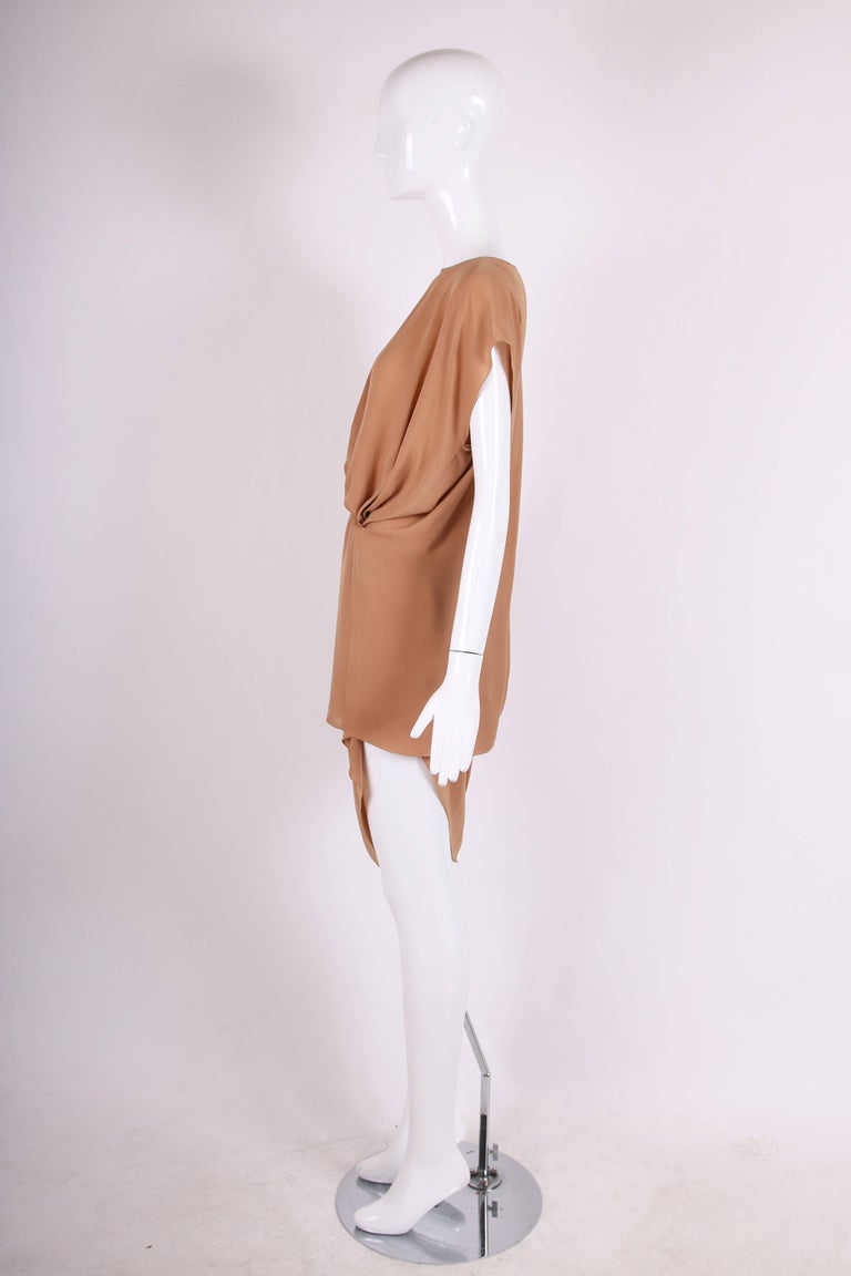Margiela Silk Single-Shoulder Dress Tunic Top In Excellent Condition For Sale In Los Angeles, CA