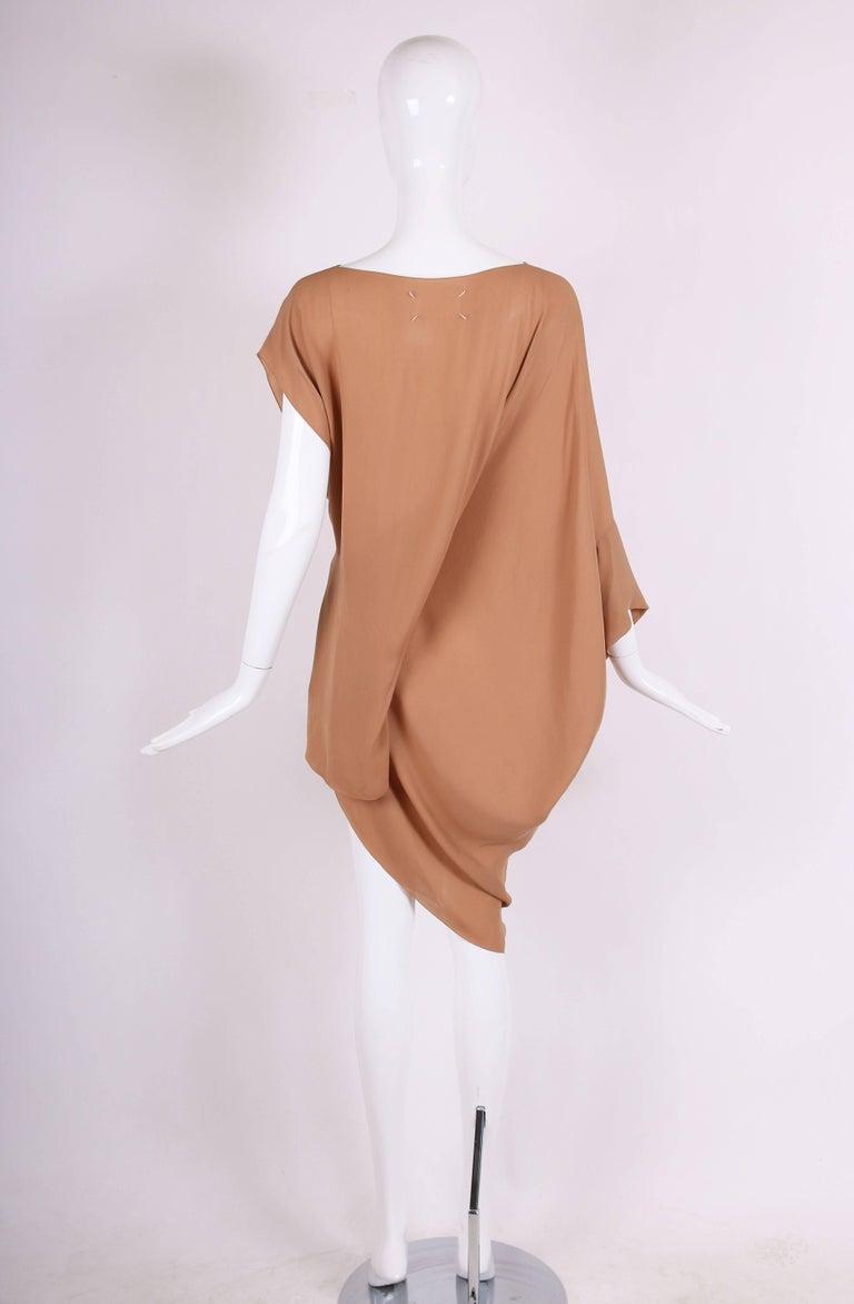 Women's Margiela Silk Single-Shoulder Dress Tunic Top For Sale