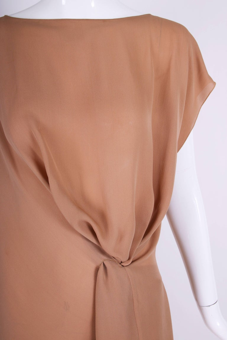 Margiela Silk Single-Shoulder Dress Tunic Top For Sale 1