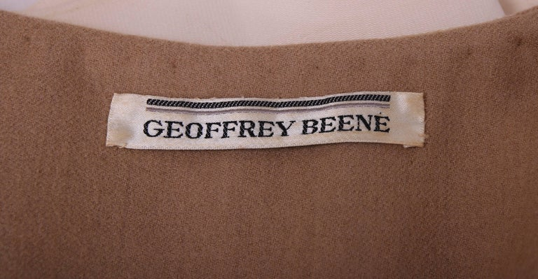 Geoffrey Beene Two Tone Wool and Silk Baby Doll Dress, 1960s For Sale 2