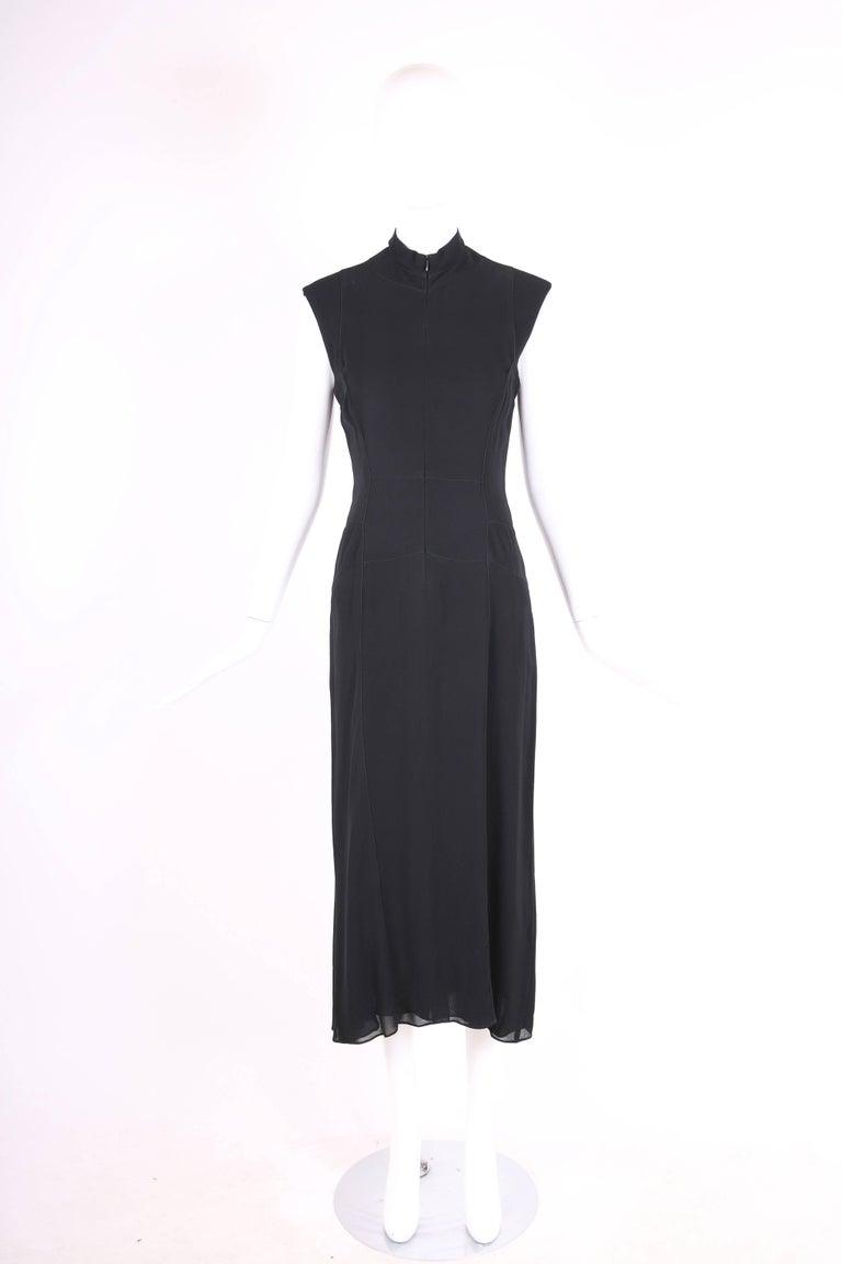 Calvin Klein Collection For Bergdorf Goodman Black Sleeveless