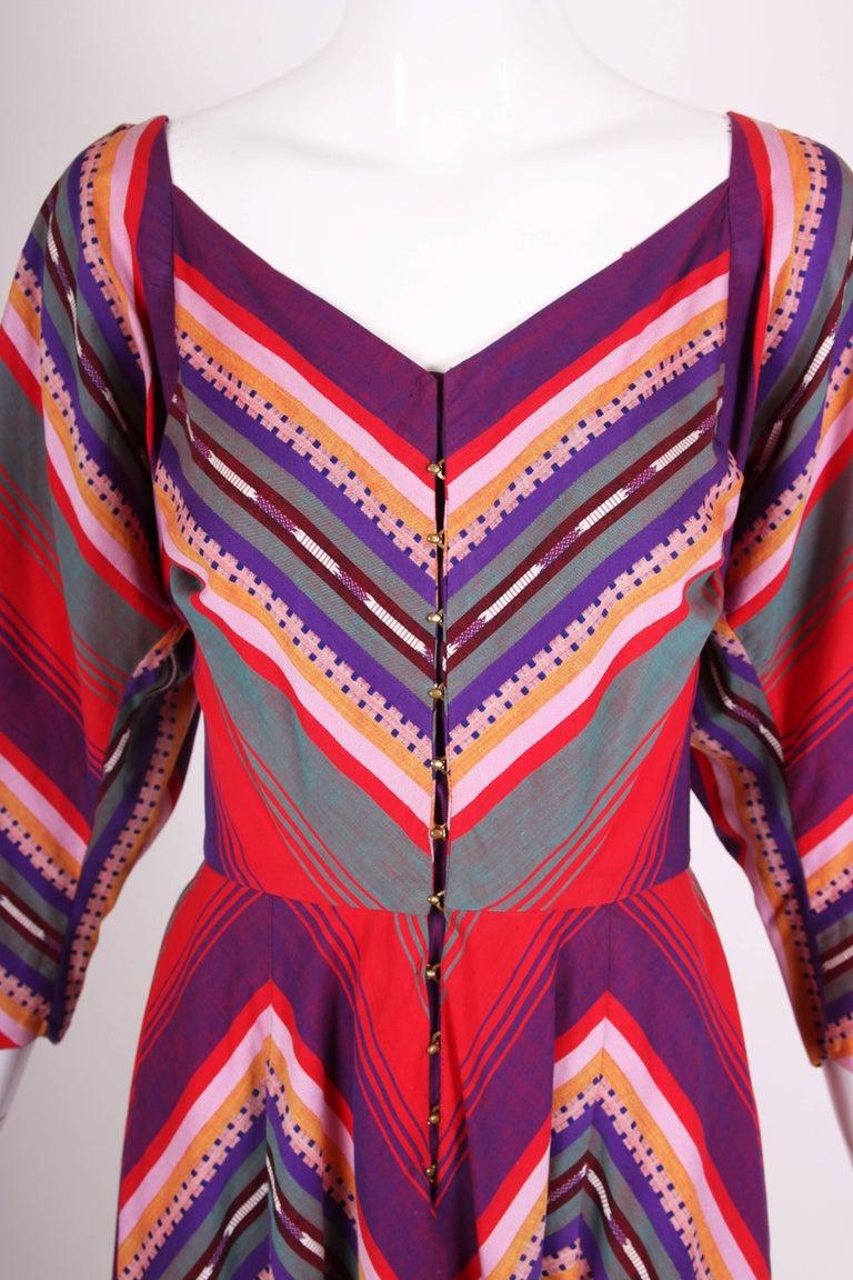 Women's Claire McCardell Multi-colored Cotton Serape Day Dress, 1950s