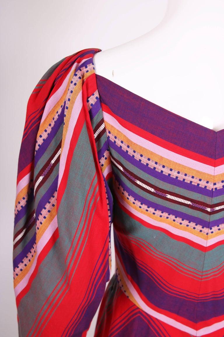 Claire McCardell Multi-colored Cotton Serape Day Dress, 1950s  1