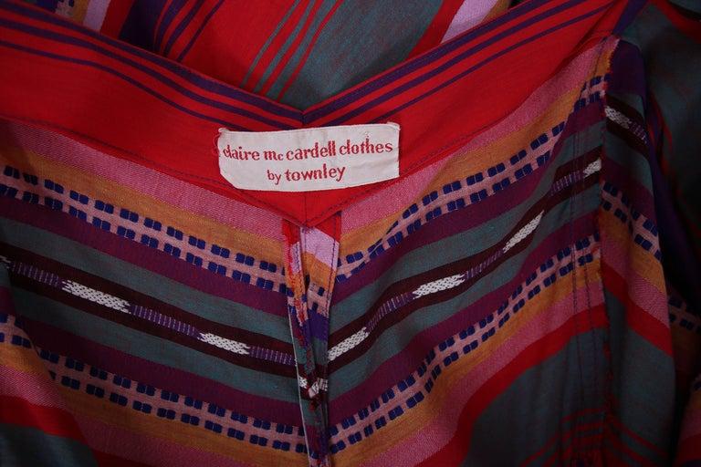 Claire McCardell Multi-colored Cotton Serape Day Dress, 1950s  2
