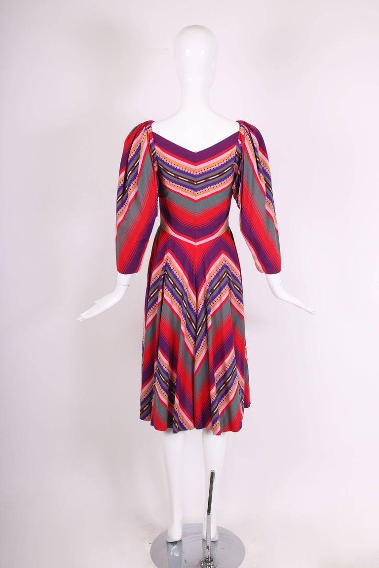 Claire McCardell Multi-colored Cotton Serape Day Dress, 1950s  In Excellent Condition In Los Angeles, CA