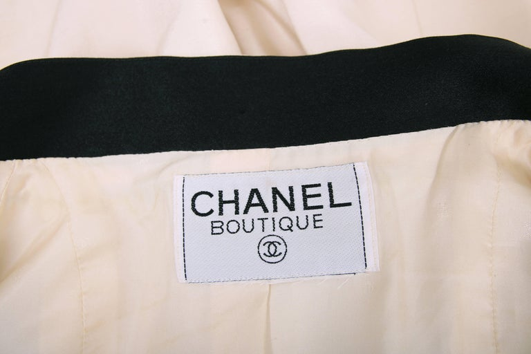 Vintage Chanel Silk Jacket & Skirt Ensemble w/Silk Bow Motif & CC Logo Buttons 3