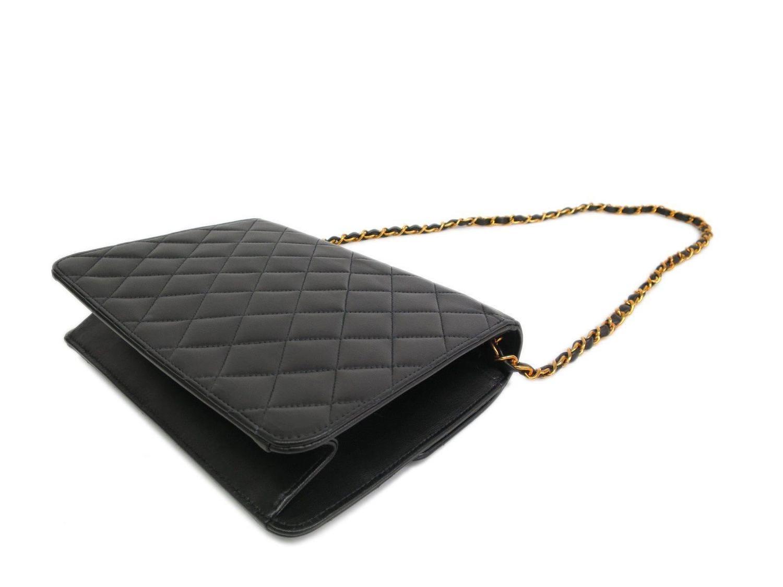 celine cabas phantom medium - Chanel Black Quilted Calfskin Gold Chain Hardware Flap Crossbody ...