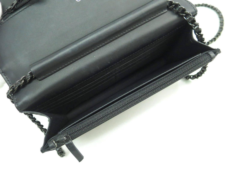red prada purse price - Chanel Black Glazed Calfskin Silver HW Wallet On Chain WOC ...