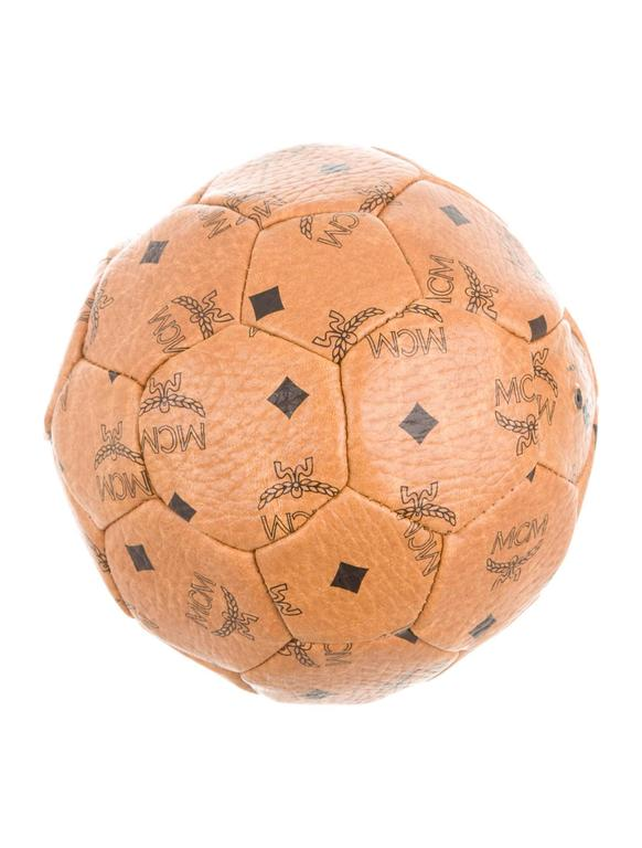 d99d22fc7bf1 MCM Rare Limited Edition FIFA World Cup Brown Cognac Leather Logo ...