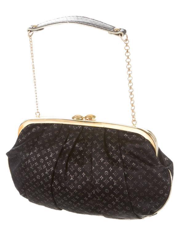 Louis Vuitton Black Monogram Satin Gold Hw Chain Top