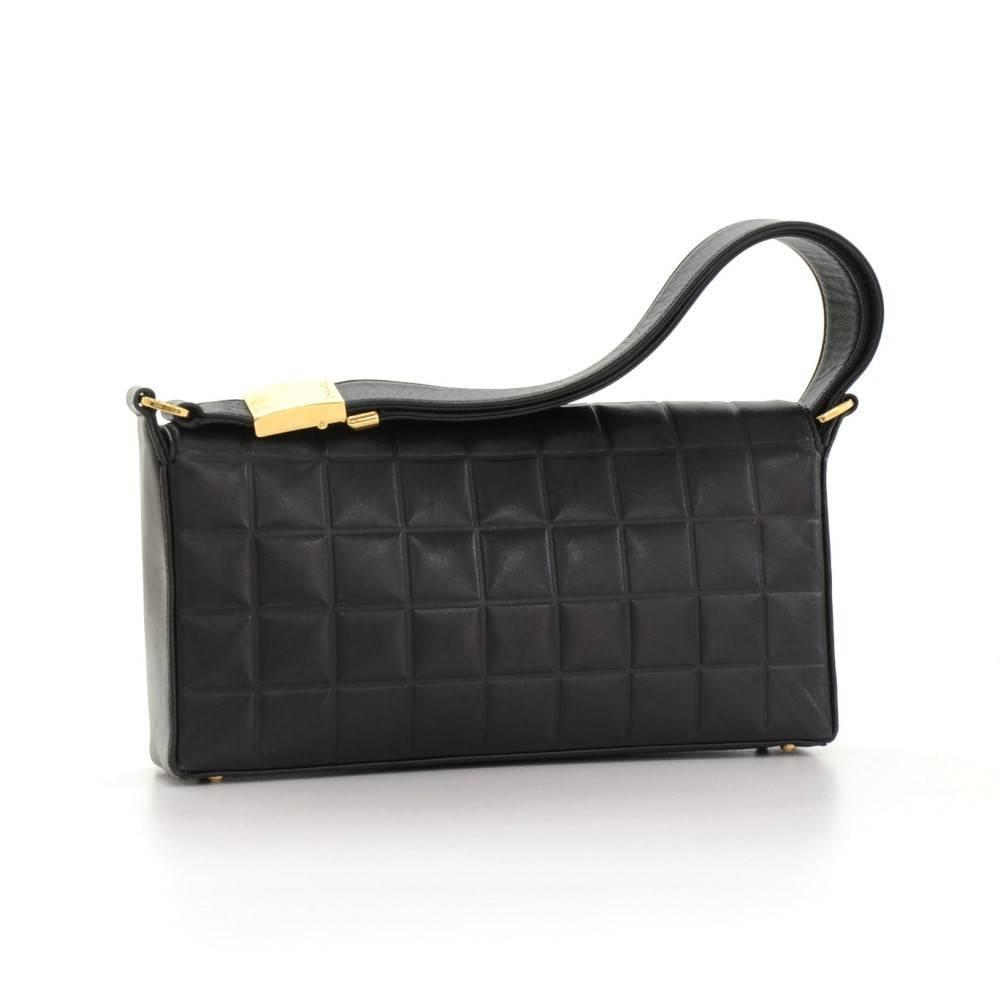 Chanel Black Quilted Lambskin Gold Hw Evening Clutch Top