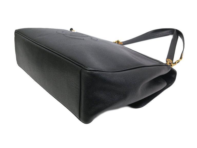 6c9faddfe0f1 Gray Chanel RARE Black Caviar Supermodel Overnight XL Weekender Shoulder Tote  Bag For Sale