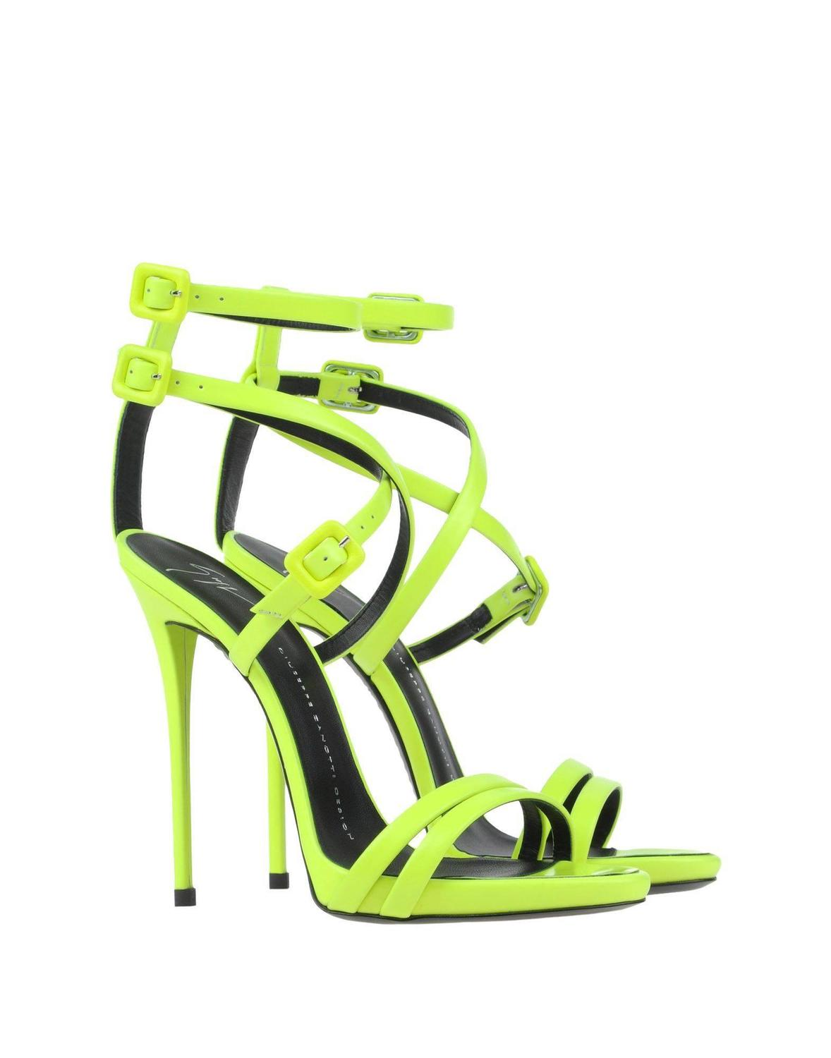 giuseppe zanotti new and sold out neon lime green high