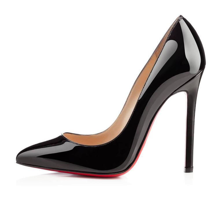 Christian Louboutin NEW & SOLD OUT Black Patent Leather High Heels Pumps in Box 4