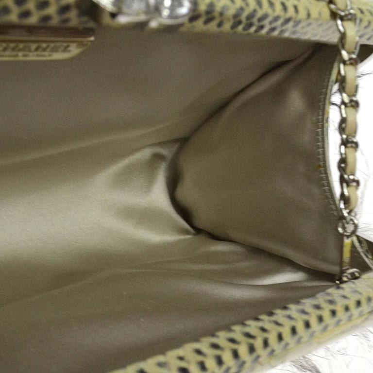 Chanel Rare Nude Fantasy Fur Crystal CC Evening Chain Shoulder Clutch Bag 5