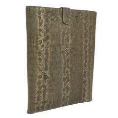 Bottega Veneta New Lizard Skin IPad Tablet Tech Accessory Case in Box