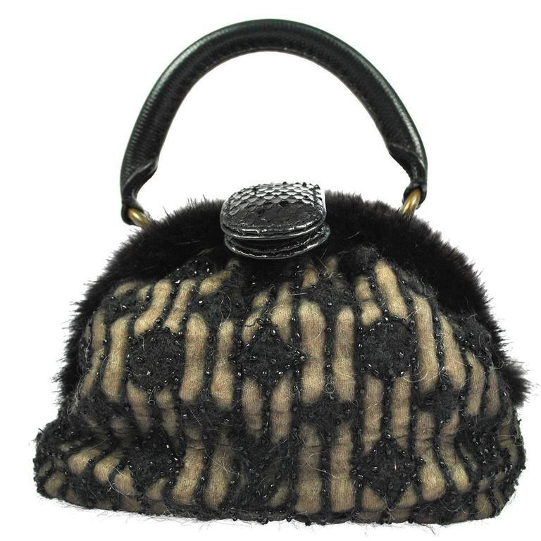 Louis Vuitton Limited Edition Monogram Demi Bead Evening Top Handle Satchel Bag